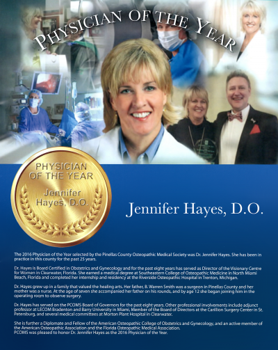 Jennifer Hayes, D.O. / 2016 Physician of the Year